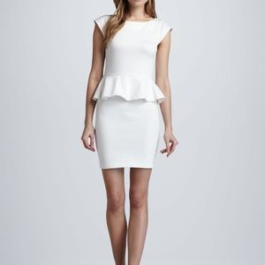 Alice + Oliva Cream Peplum Sheath Dress