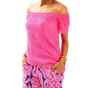 NWT Lilly Pulitzer Pink Marble Top- Small