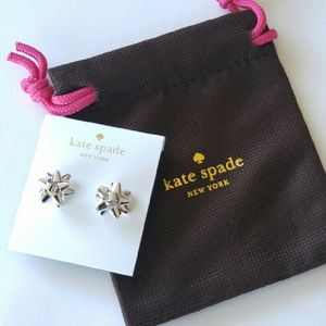 HOST PICK Kate Spade Silver Bourgeois Bow Earrings