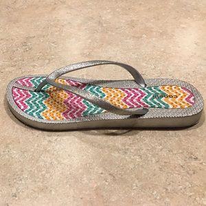 Capelli of New York Shoes - Capelli fine glitter ladies flip flop Size 8