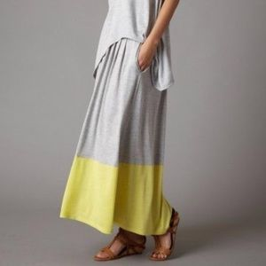 Eileen Fisher Silk Cotton pleated skirt