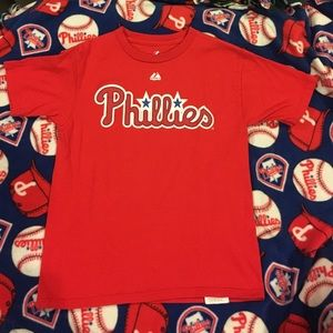 Majestic Tops - Youth Phillies tshirt