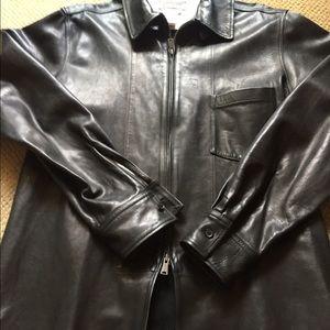 Yohji Yamamoto Other - Yohji Yamamoto Black Leather Shirt Jacket / large.
