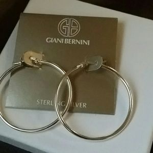 Auth Giani Bernini Sterling Sterling Hoops 1 1/2