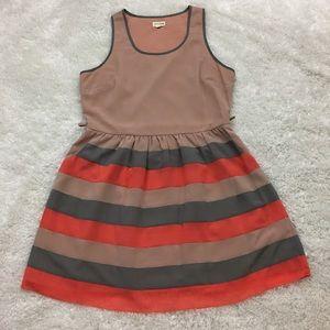 Maison Jules Sleeveless Dress, Stripe, Pockets, XL