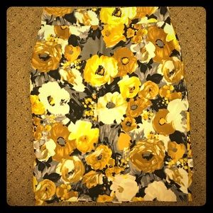 Floral JCrew Pencil skirt
