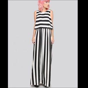 Gypsy Warrior Dresses & Skirts - Black & White Chiffon maxi