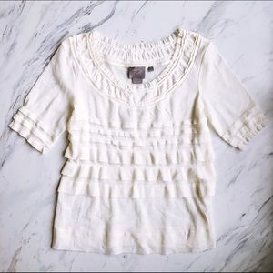 Anthropologie Vanessa Virginia Cream Blouse