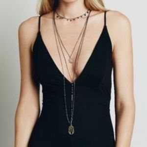 Free People Jewelry - NWOT free people layered moon crescent necklace