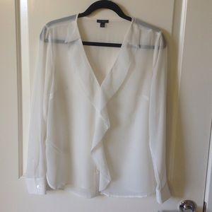 Ann Taylor  Dreamy sheer blouse