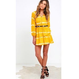 Lulu's Dresses & Skirts - NWT Lulus Yellow Tie Dye Dress