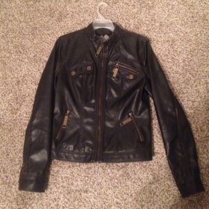 brave soul Jackets & Blazers - Imitation leather jacket!!