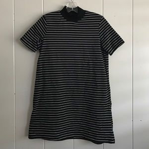Zara Mock Neck Striped Mini Dress - FLASH SALE