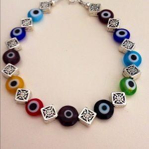 Jewelry - Beautiful beaded Evil Eye Bracelet
