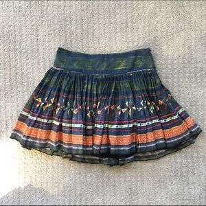 Free People Flare Skirt Boho Gauze Festival Mini