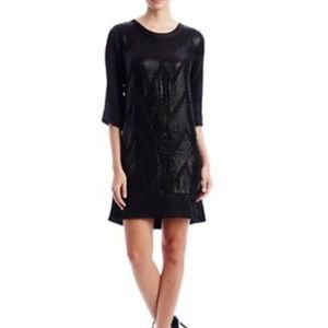 ⛄️NEW L'AGENCE 100% pure Sequinned Silk Dress 4