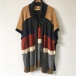 Long cape poncho slouchy cardigan