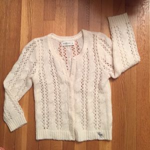 Abercrombie & Fitch Sweaters - Cream cardigan sweater