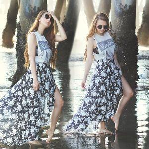 Brandy Melville Dresses & Skirts - NWOT Brandy Melville High Low Maxi Skirt