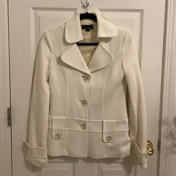 Cream colored pea coat 2 from Rebecca's closet on Poshmark