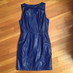Forever 21 Dresses & Skirts - Blue faux leather dress. Never worn.