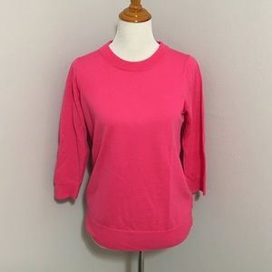 JCrew Pink Merino Crewneck Sweater