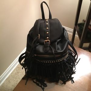 Handbags - MFK Collection Monica Elegant Fringed Backpack
