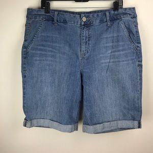 Lane Bryant Shorts - Lane Bryant Denim Bermuda shorts