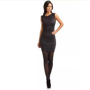 Nwt Alice + Olivia gyllen black metallic dress m