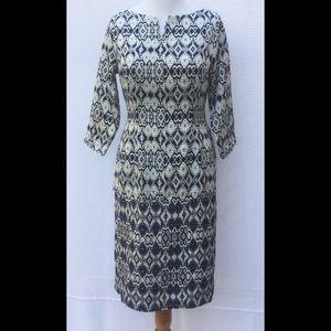 New Eshakti Brocade Midi Pencil Dress L 14
