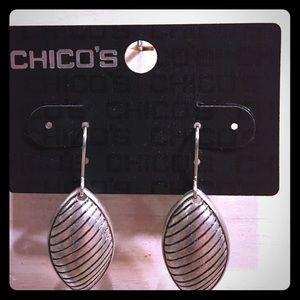 Chico's Jewelry - NWT Chico's Valedina Silver Earrings