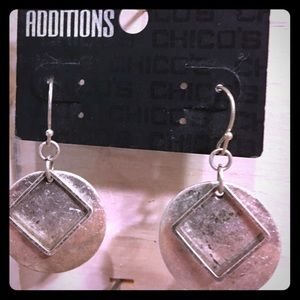 Chico's Jewelry - NWT Chico's Additions Lauren Silver Earrings