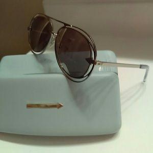 Karen Walker Accessories - Karen Walkers silver Jacques aviator sunglasses