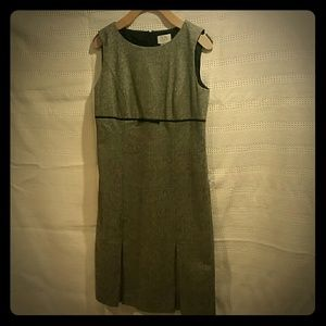 Tweed Ann Taylor Dress With pleats