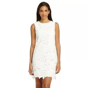 Calvin Klein White Floral Crochet Dress