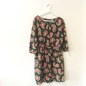 Zara Basic Floral Paisley Dress