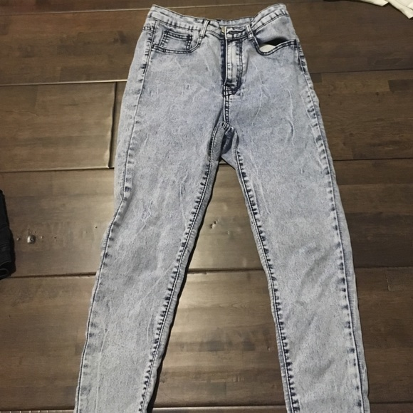 Skinny high waisted pants