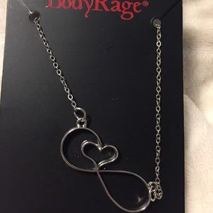 Body Rage Infinity Heart Necklace