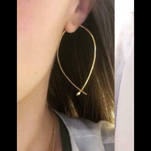 1abcc6fdd5142 Hammered Wire Large Hoops - Stella & Dot NWT
