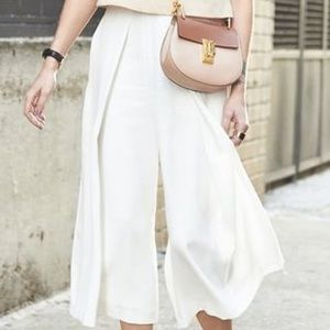 French Connection NEW White Cropped Culotte Pants