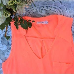 Lush Tops - Hot Pink Sleeveless Shirt