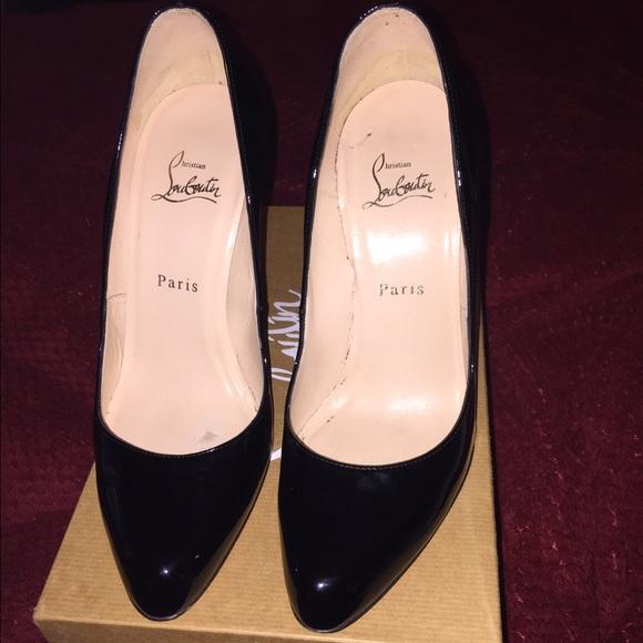 newest 2d985 452ee Authentic CL DÉCOLLETÉ 868 100 patent calf black