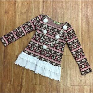 Little Mass Other - Little Mass Sweater Pink Tan Necklace 4