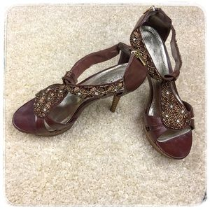 Anne Michelle Shoes - Anne Michelle Beaded Heels