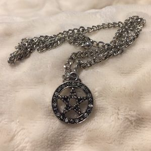 Body Rage Swarovski Crystal Pentagram Necklace