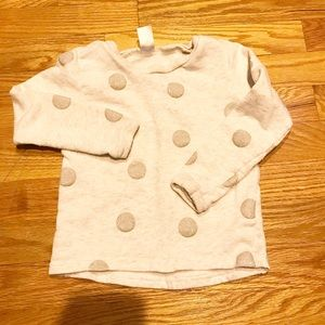 4T carter's polka dot sweatshirt