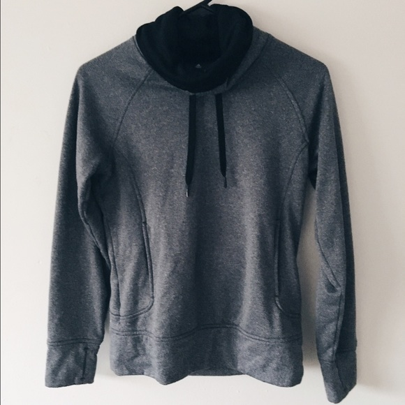 74% off Adidas Sweaters - Adidas grey cowl neck hoodie from ...