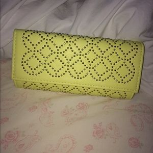 Neon green/yellow clutch