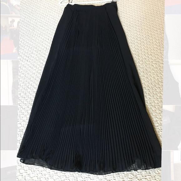 zara zara pleated sheer maxi skirt from diana s