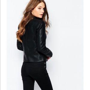 New Look Jackets Coats Faux Leather Biker Jacket Poshmark